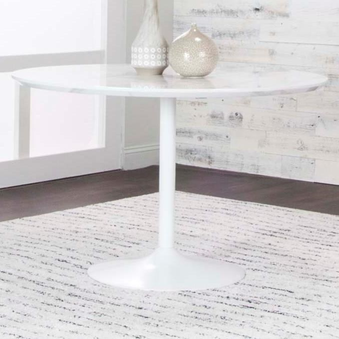 Tia Tia Round Faux Marble Top Dining Table at Morris Home