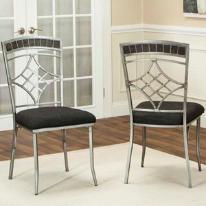 Cramco, Inc Triumph Pewter and Marble Dining Chair