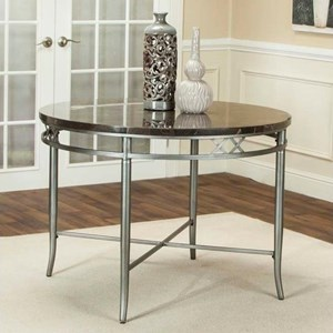 "Cramco, Inc Triumph 42"" Round Bluestone Marble Table"