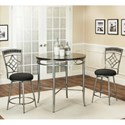 Cramco, Inc Triumph Counter Height Dining Set - Item Number: Y2726-58+2x24