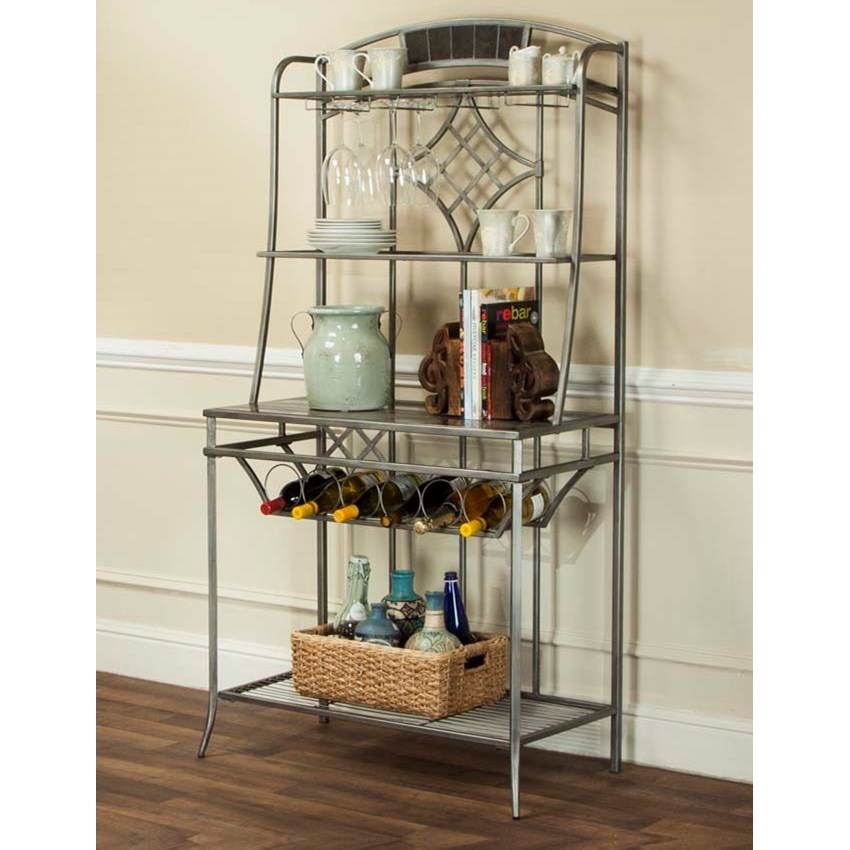 Cramco, Inc Triumph Pewter and Marble Baker's Rack - Item Number: Y2726-85