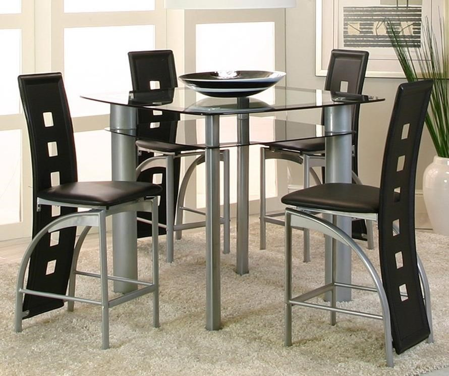 Cramco Inc Valencia Contemporary 5 Piece Counter Table Set Value City Furniture Pub Table And Stool Sets