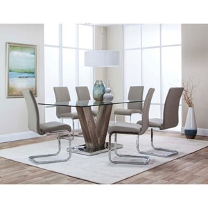"Cramco, Inc Veneto 63"" Dining Table and Chair Set"