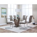 "Cramco, Inc Veneto 63"" Dining Table and Chair Set - Item Number: G5776-41+45+47+6x01"