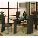 Cramco, Inc Venice Chrome Side Chair - Shown with Table