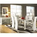 Cramco, Inc Venice Dining Sideboard w/ 2 Shelves - Shown with Table and Side Chairs