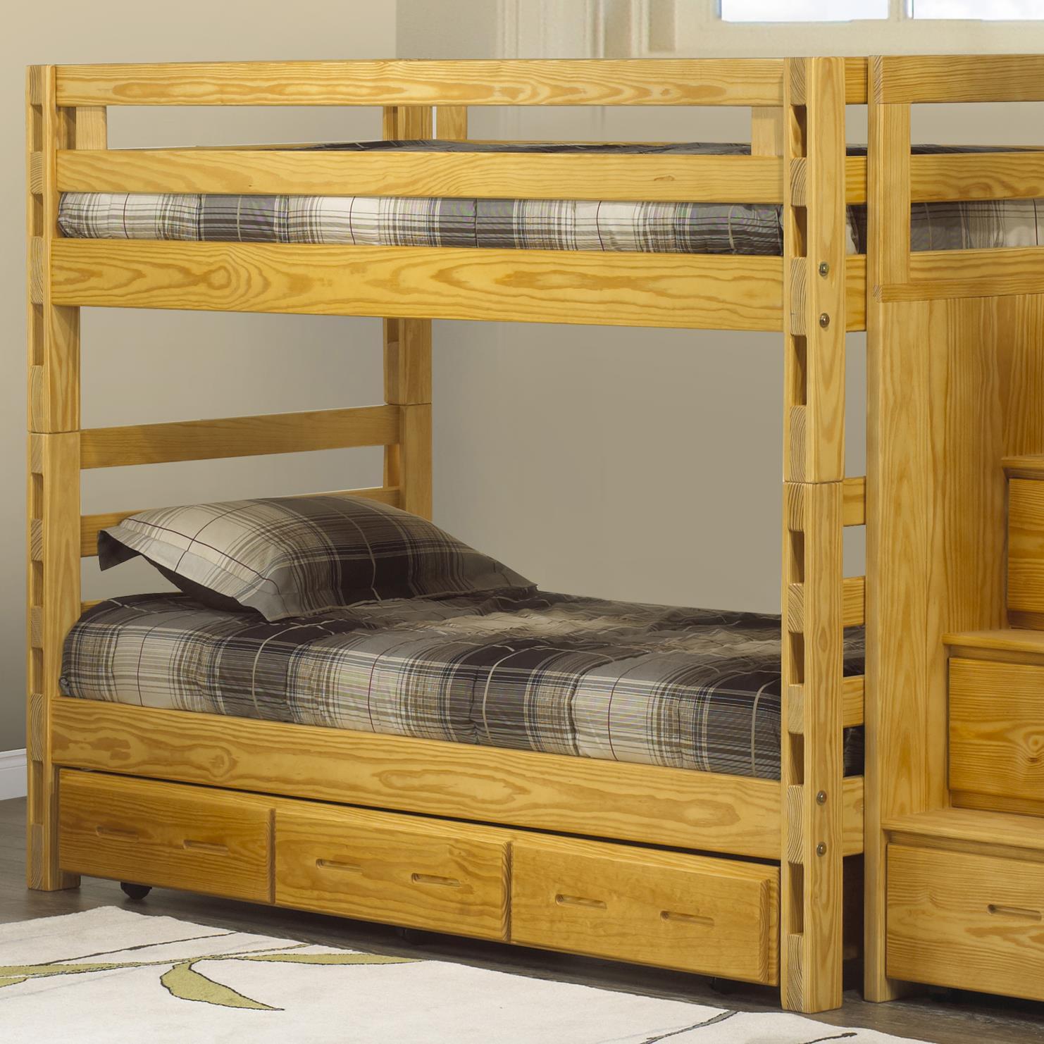 Crate Designs Crate Designs Bedroom Twin Twin Bunkbed W Storage