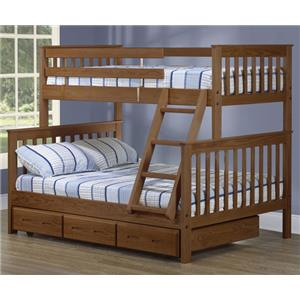Twin/Double Bunk Bed w/ Trundle & Ladder