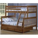 Crate Designs Crate Designs - Bedroom Twin/Double Bunk Bed w/ Trundle & Ladder - Item Number: B4706+B4711