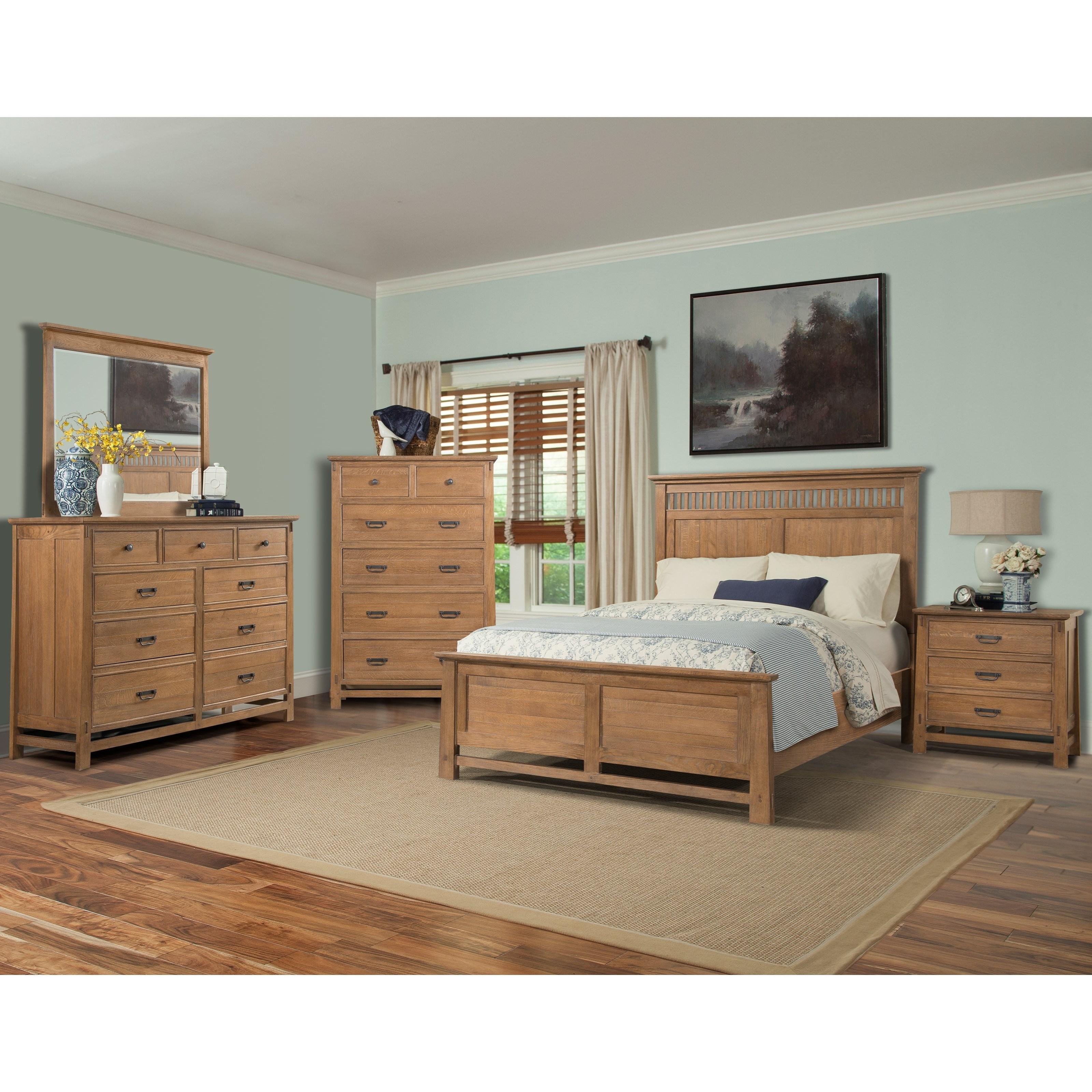 Cresent Fine Furniture Camden Queen Bedroom Group - Item Number: 202 Q Bedroom Group 1
