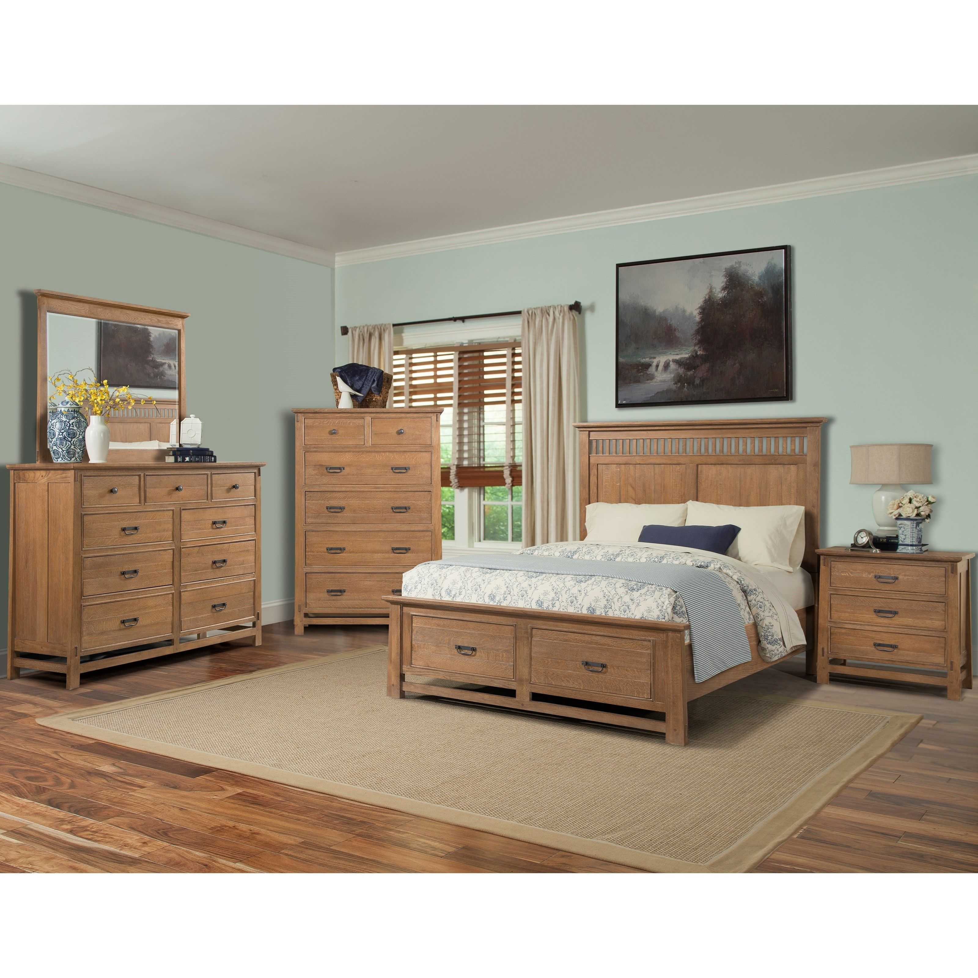 Cresent Fine Furniture Camden Queen Bedroom Group 2 - Item Number: 202 Q Bedroom Group 2