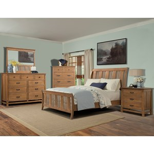 Cresent Fine Furniture Camden Queen Bedroom Group 4