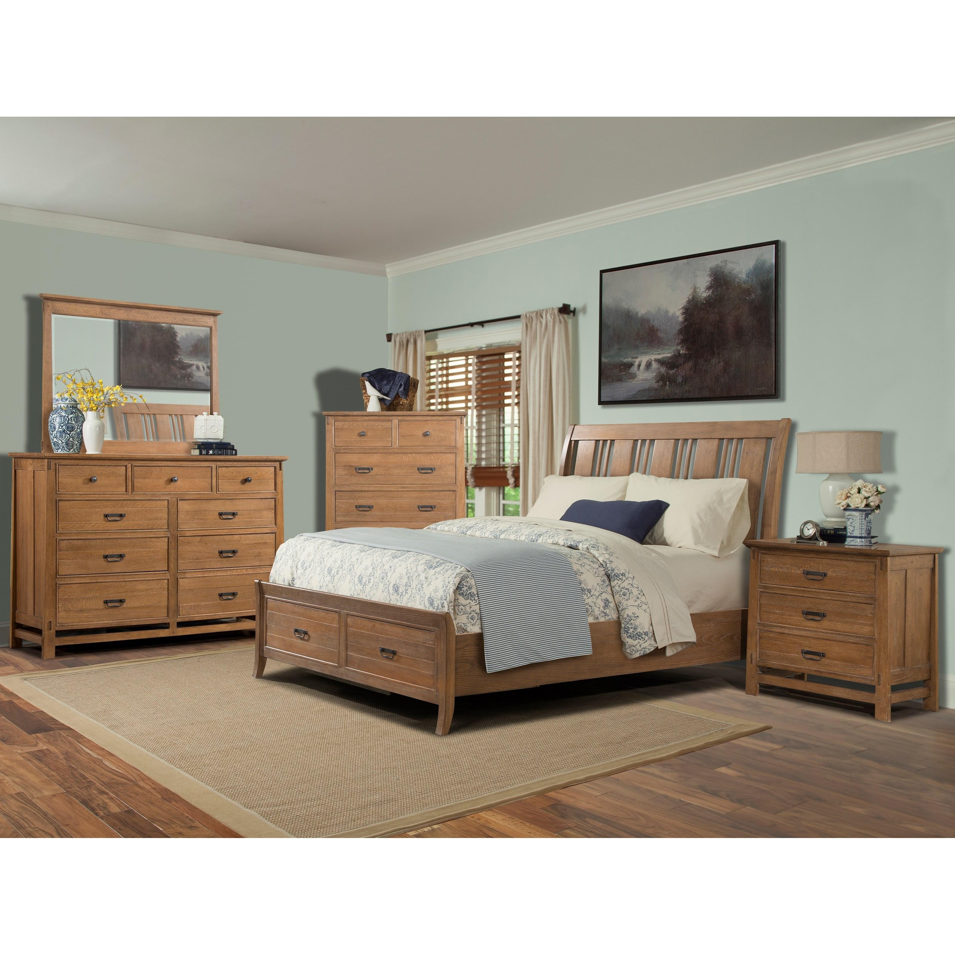 Cresent Fine Furniture Camden Queen Bedroom Group 5 - Item Number: 202 Q Bedroom Group 5