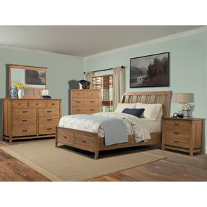 Cresent Fine Furniture Camden Queen Bedroom Group 5