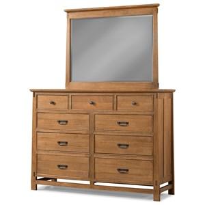 Cresent Fine Furniture Camden Dresser and Mirror Combo