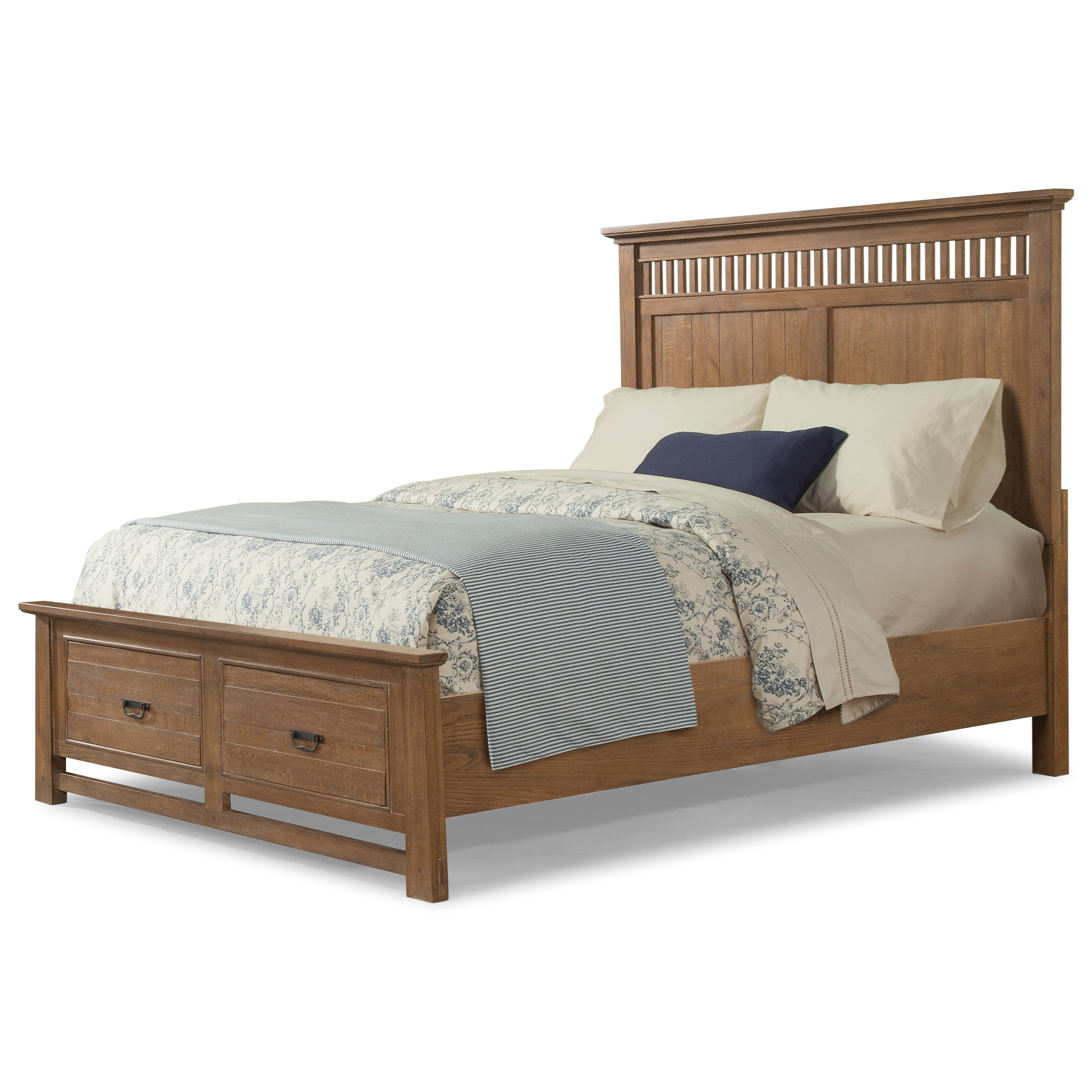 Cresent Fine Furniture Camden QUEEN STORAGE BED-STOCK ONLY! - Item Number: 202-131QH+QFS+QRS