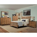 Cresent Fine Furniture Camden Queen Sleigh Bed with Alternating Slats