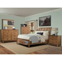 Cresent Fine Furniture Camden King Storage Sleigh Bed with 2 Drawer Footboard