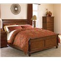 Cresent Fine Furniture Cresent Classics - Casual Living California King-Size Sleigh Bed - 1232CH+CF+CR - Bed Shown May Not Represent Size Indicated