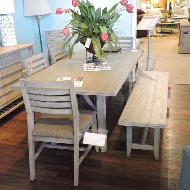 Dining Table, 4 Side Chairs, Bench & Sideboa