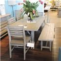 Cresent Fine Furniture Clearance Dining Table, 4 Side Chairs, Bench & Sideboa - Item Number: 565066727