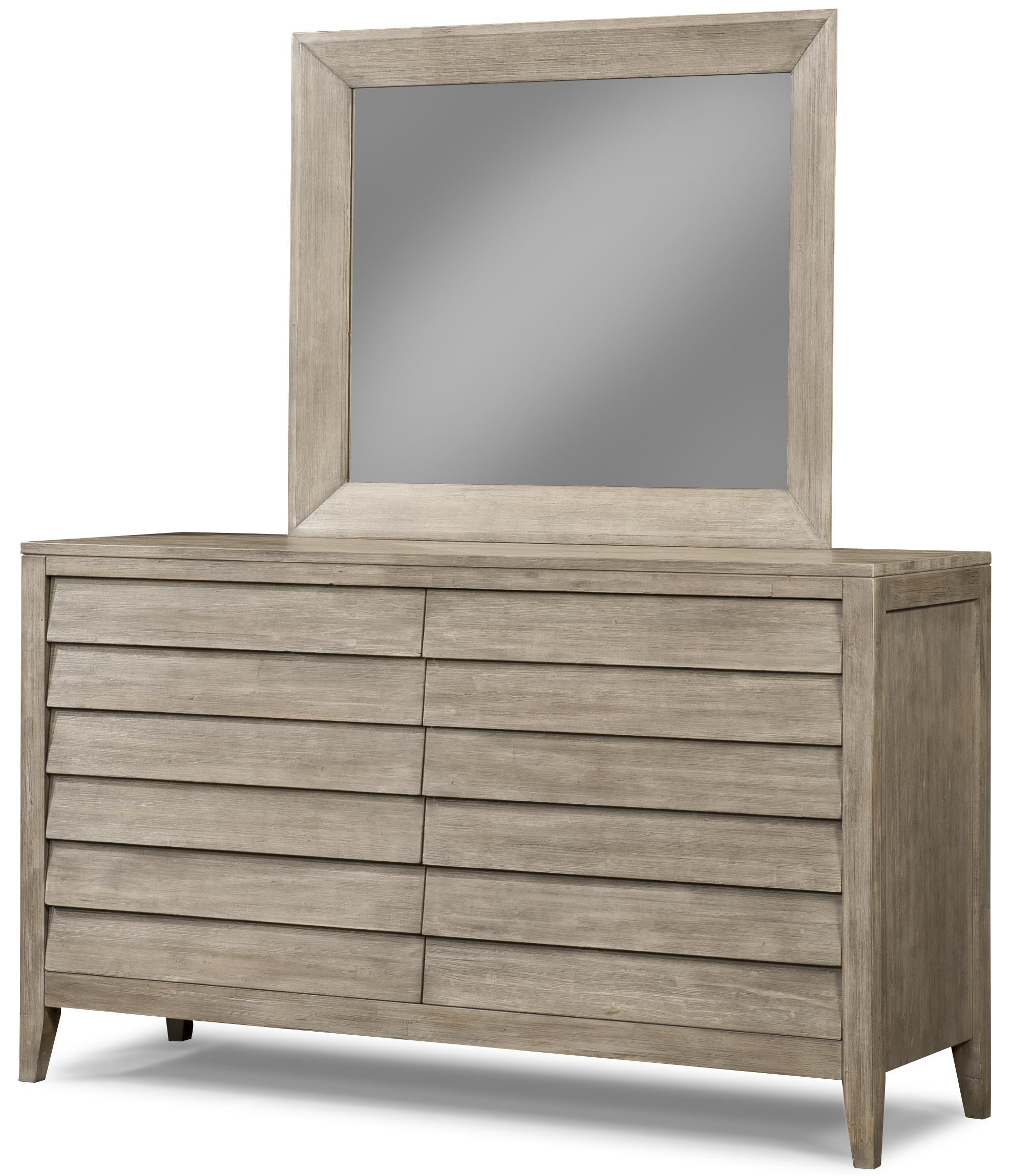 Cresent Fine Furniture Corliss Landing Dresser & Mirror - Item Number: 5601+02