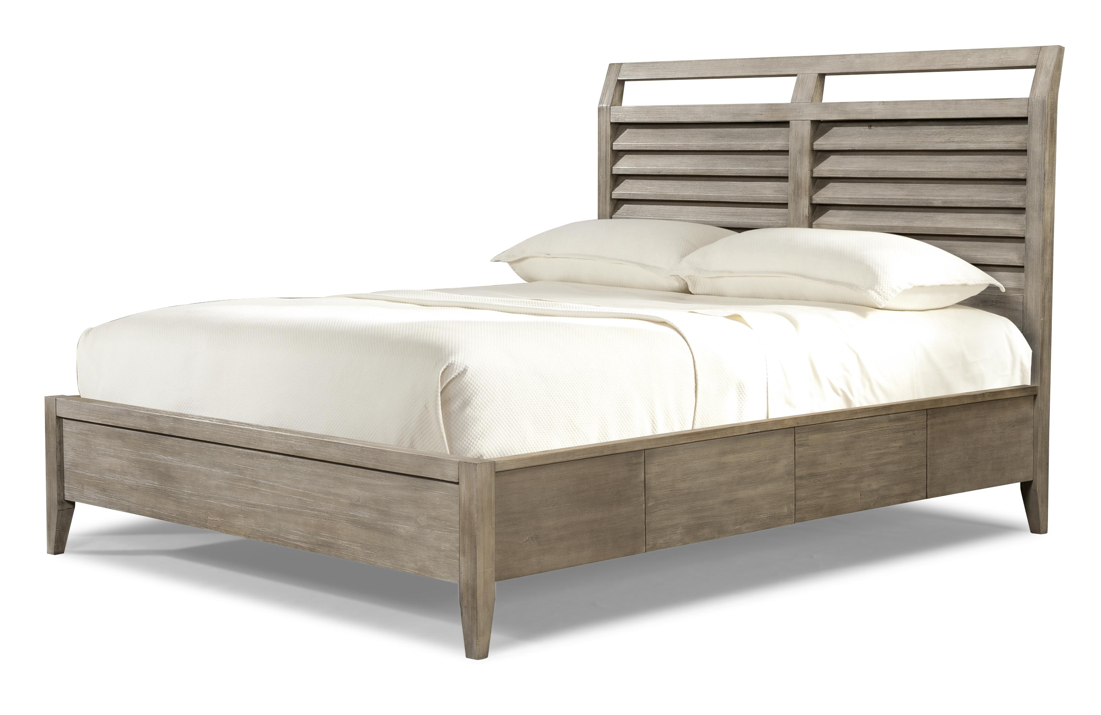 King Louvered Panel Bed