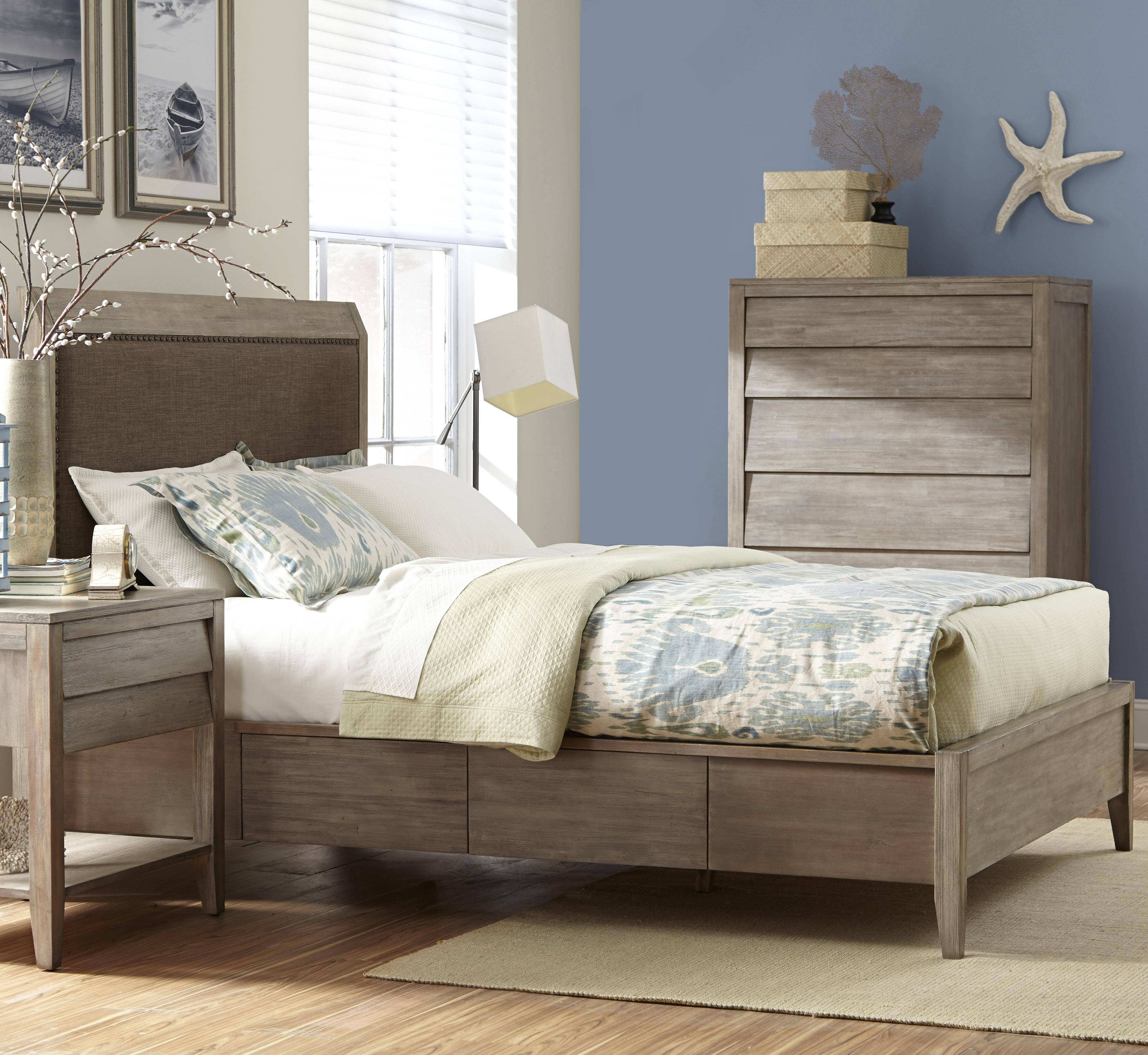 Cresent Fine Furniture Corliss Landing King Upholstered Bed - Item Number: 5633KB+KR