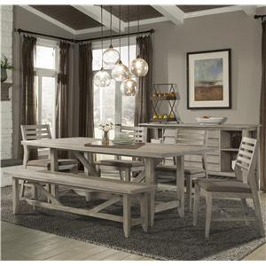 Cresent Fine Furniture Corliss Landing Table, Chair & Bench Set