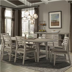 7 PC Table & Chair Set