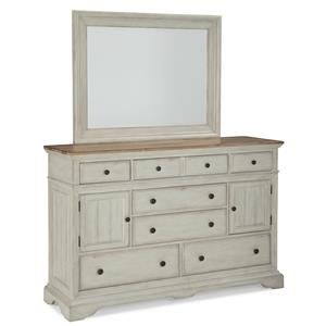 Cresent Fine Furniture Cottage Dresser & Mirror Set