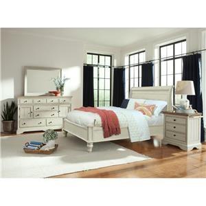 Cresent Fine Furniture Cottage Dresser & Mirror Set