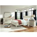 Cresent Fine Furniture Cottage Dresser & Mirror Set - Item Number: 201-101+102