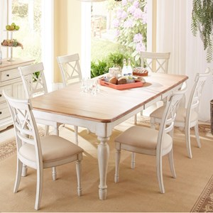 Cresent Fine Furniture Cottage 7 Piece Table and Chair Set