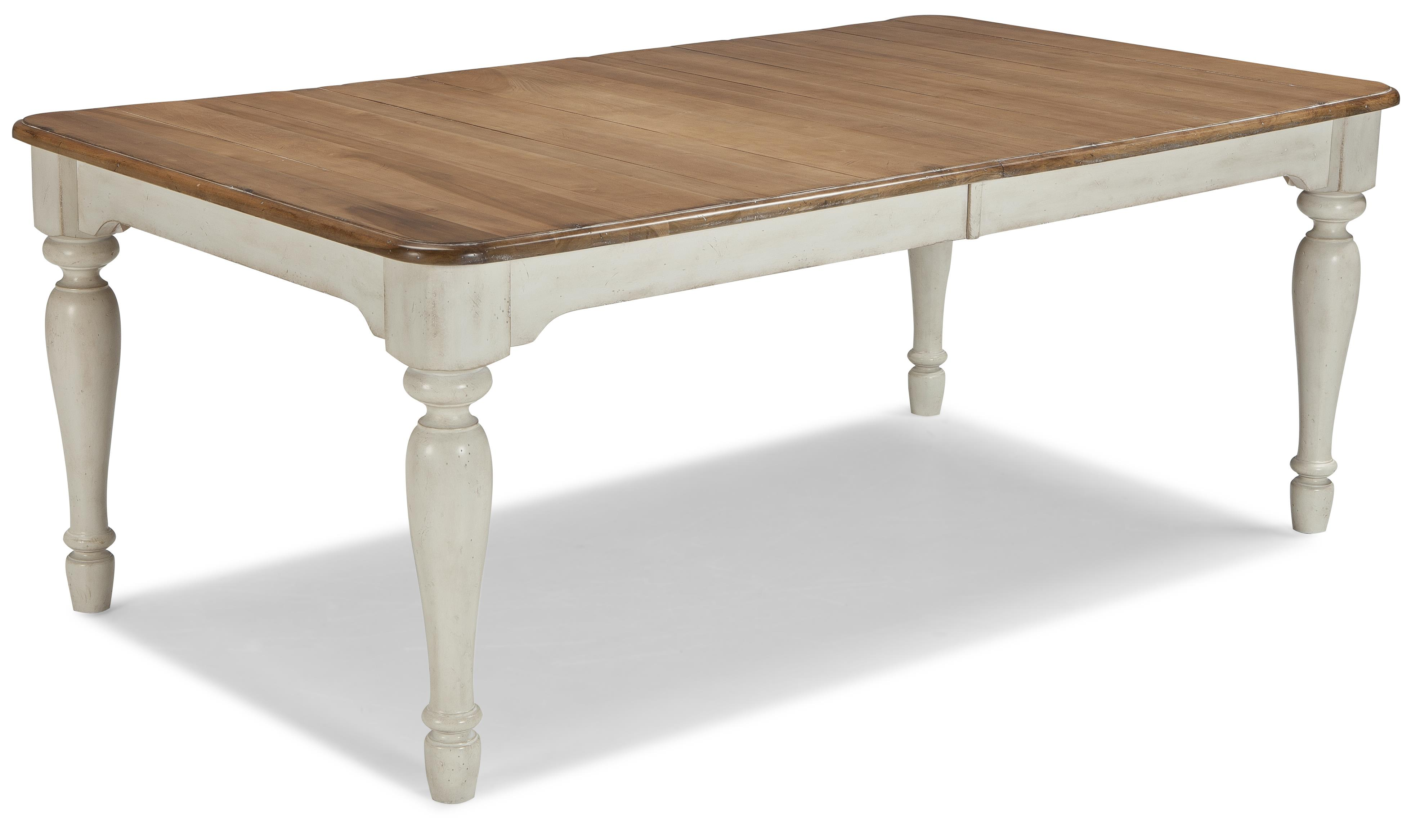 Cresent fine furniture cottage rectangle farmhouse table for 2 tone dining room tables