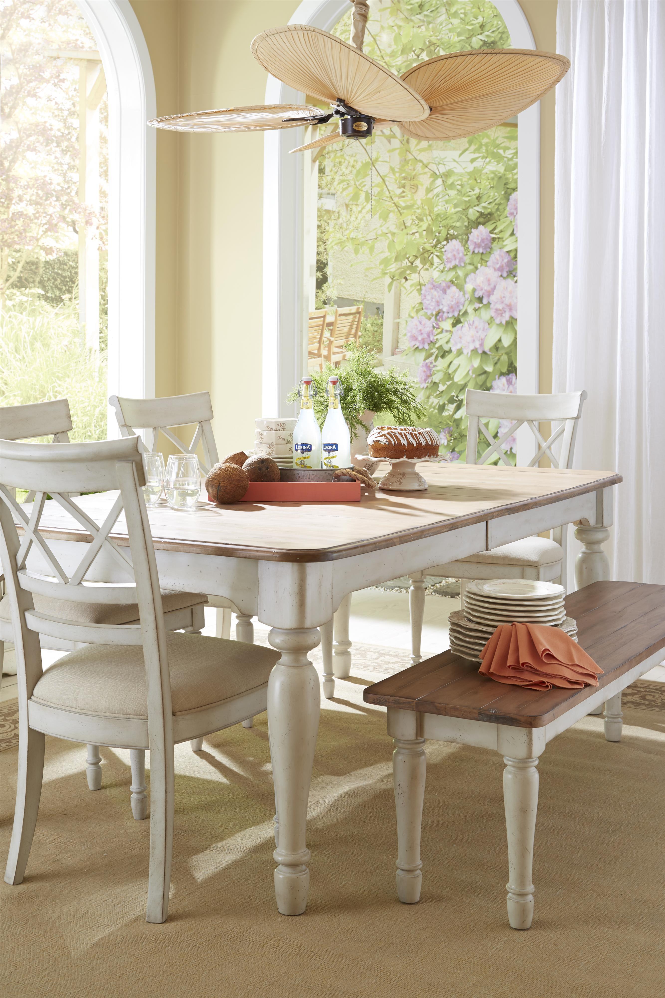 Cresent Fine Furniture Cottage Rectangle Farmhouse Table