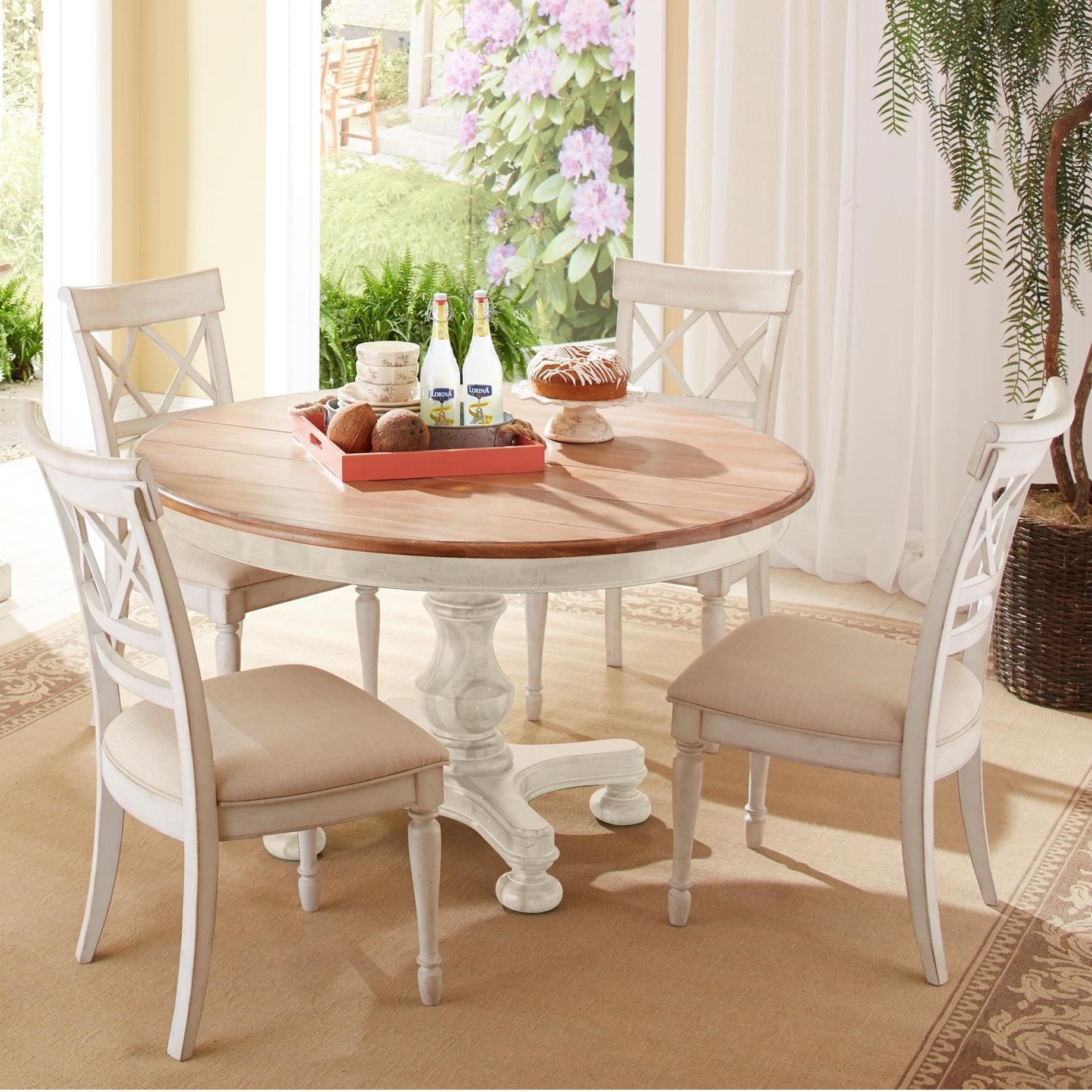Cresent Fine Furniture Cottage 5 Piece Table and Chair Set - Item Number: 201-151+151P+4x158