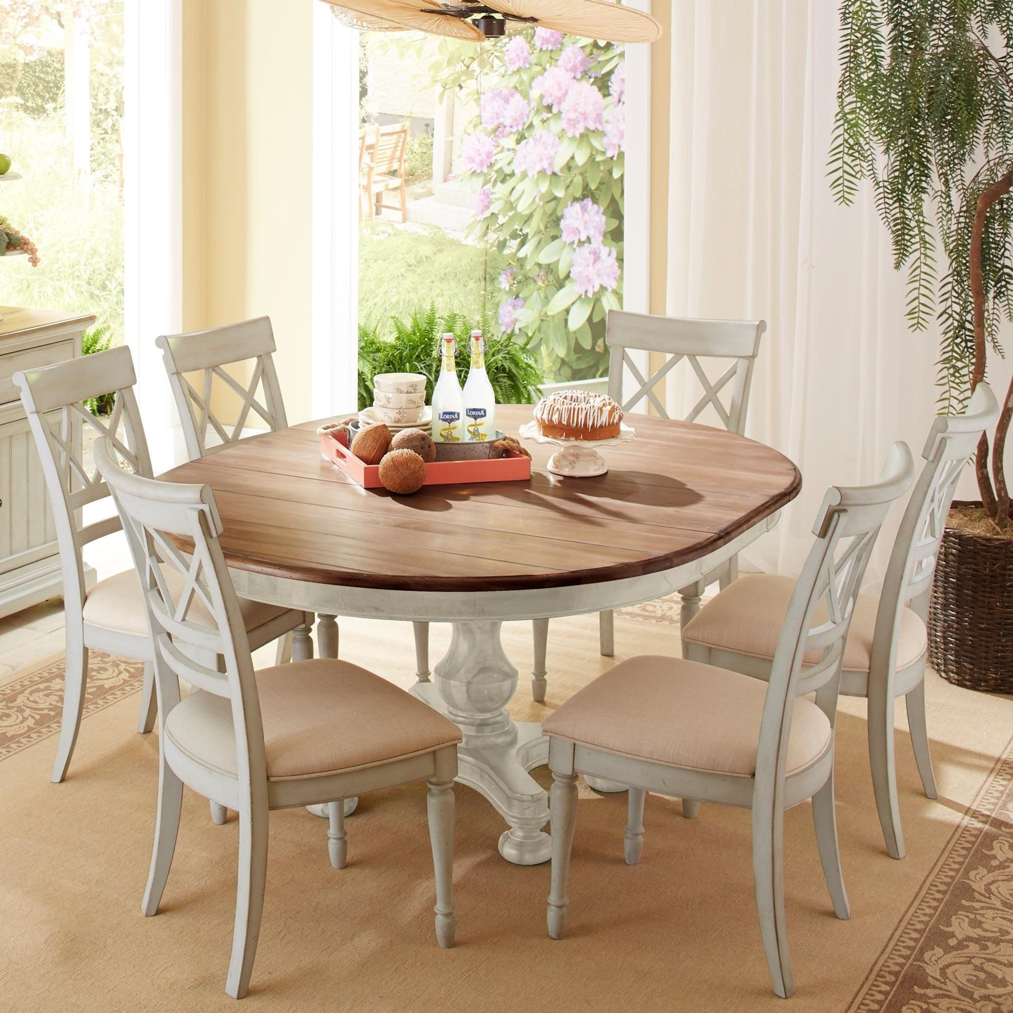 cottage style kitchen chairs cresent furniture cottage 7 table and 5913