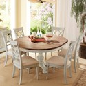 Cresent Fine Furniture Cottage 7 Piece Round Table and Double-X Back Chair Set