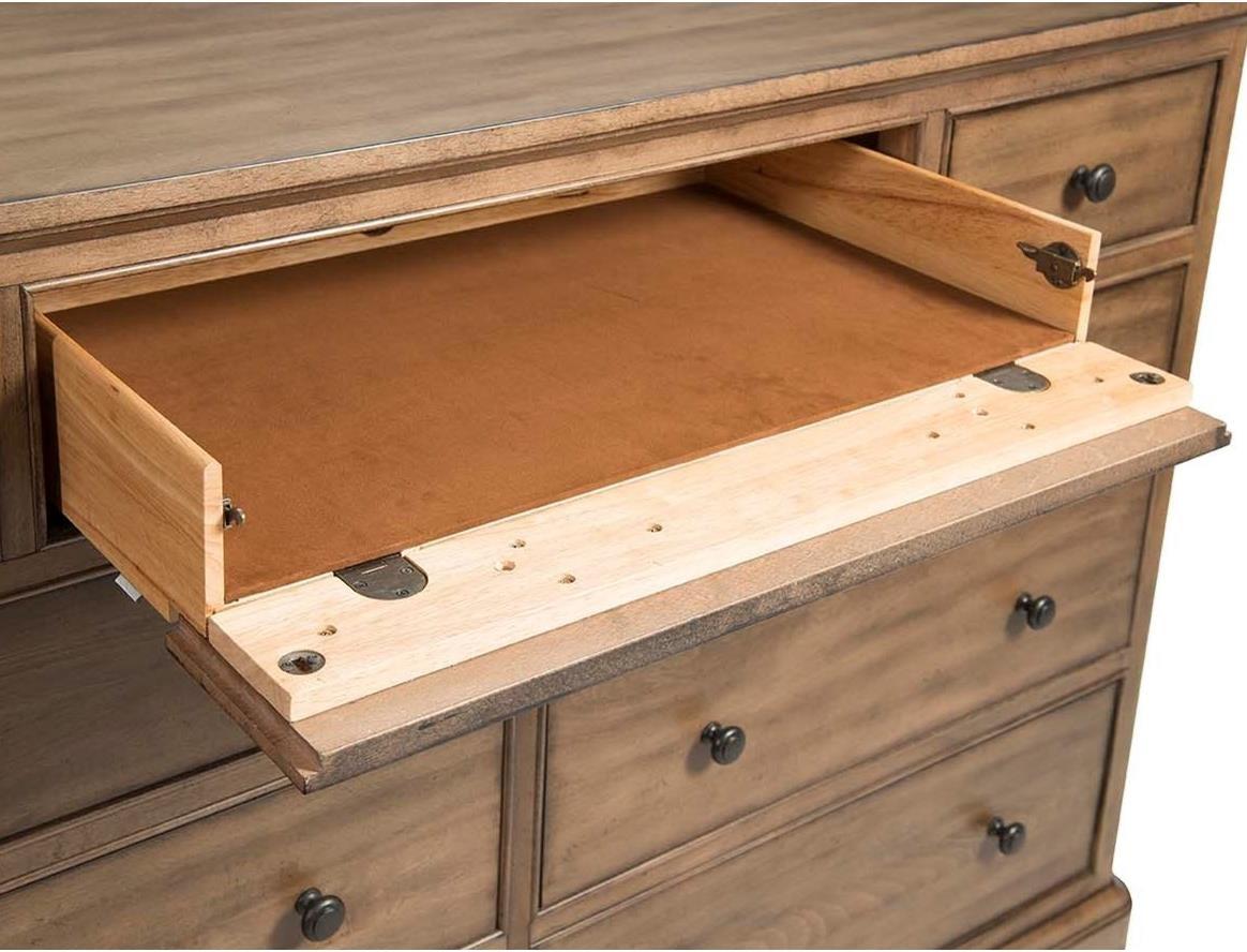 Cresent Fine Furniture Gunnison 9 Drawer Solid Wood Media