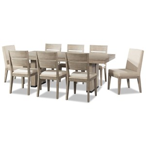 Cresent Fine Furniture Larkspur 9 Piece Table and Chair Set