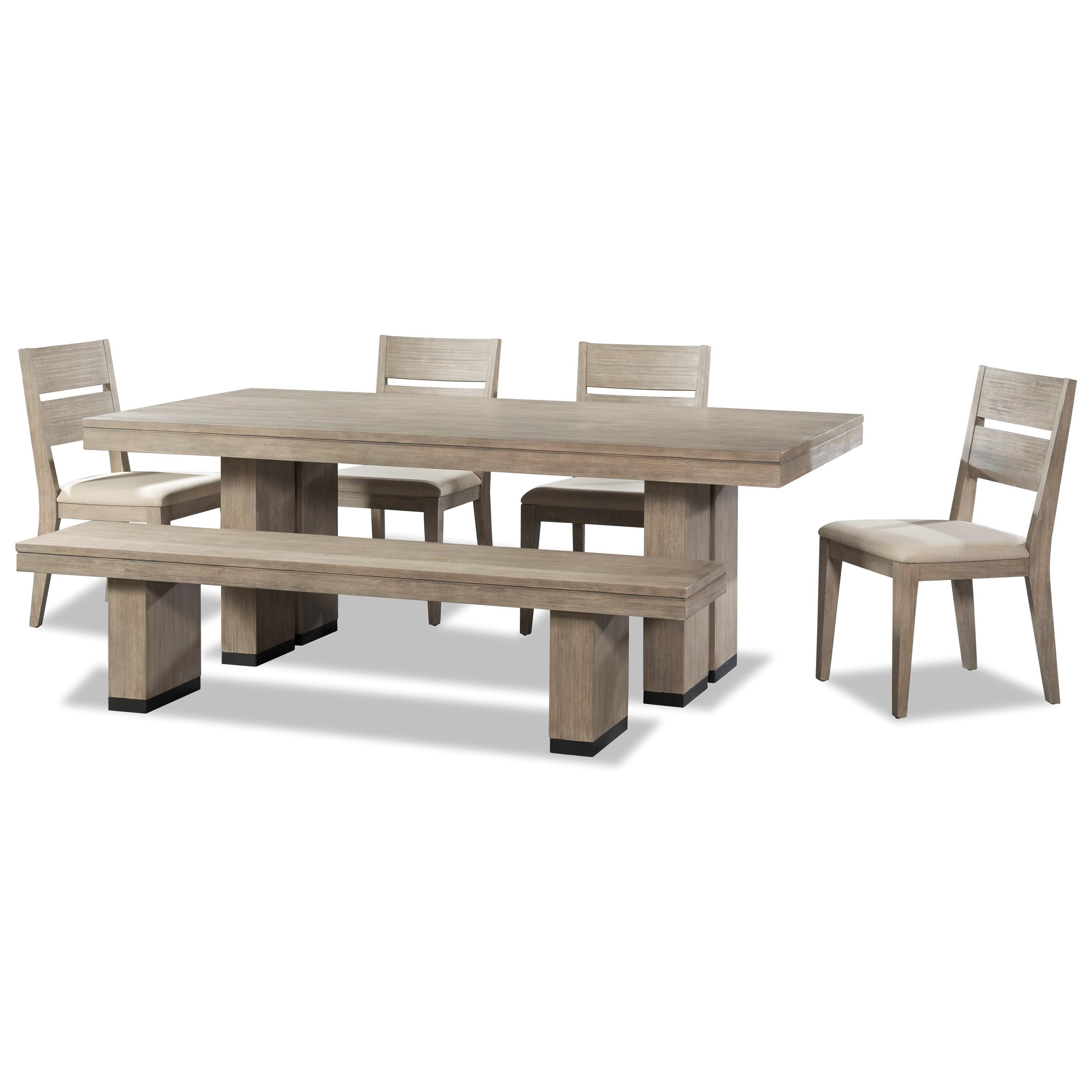 Cresent Fine Furniture Larkspur 6 Piece Trestle Table and  : products2Fcresentfinefurniture2Fcolor2Flarkspur20503503 1502B4x1582B159 b1 from www.jacksonvillefurnituremart.com size 3200 x 3200 jpeg 563kB
