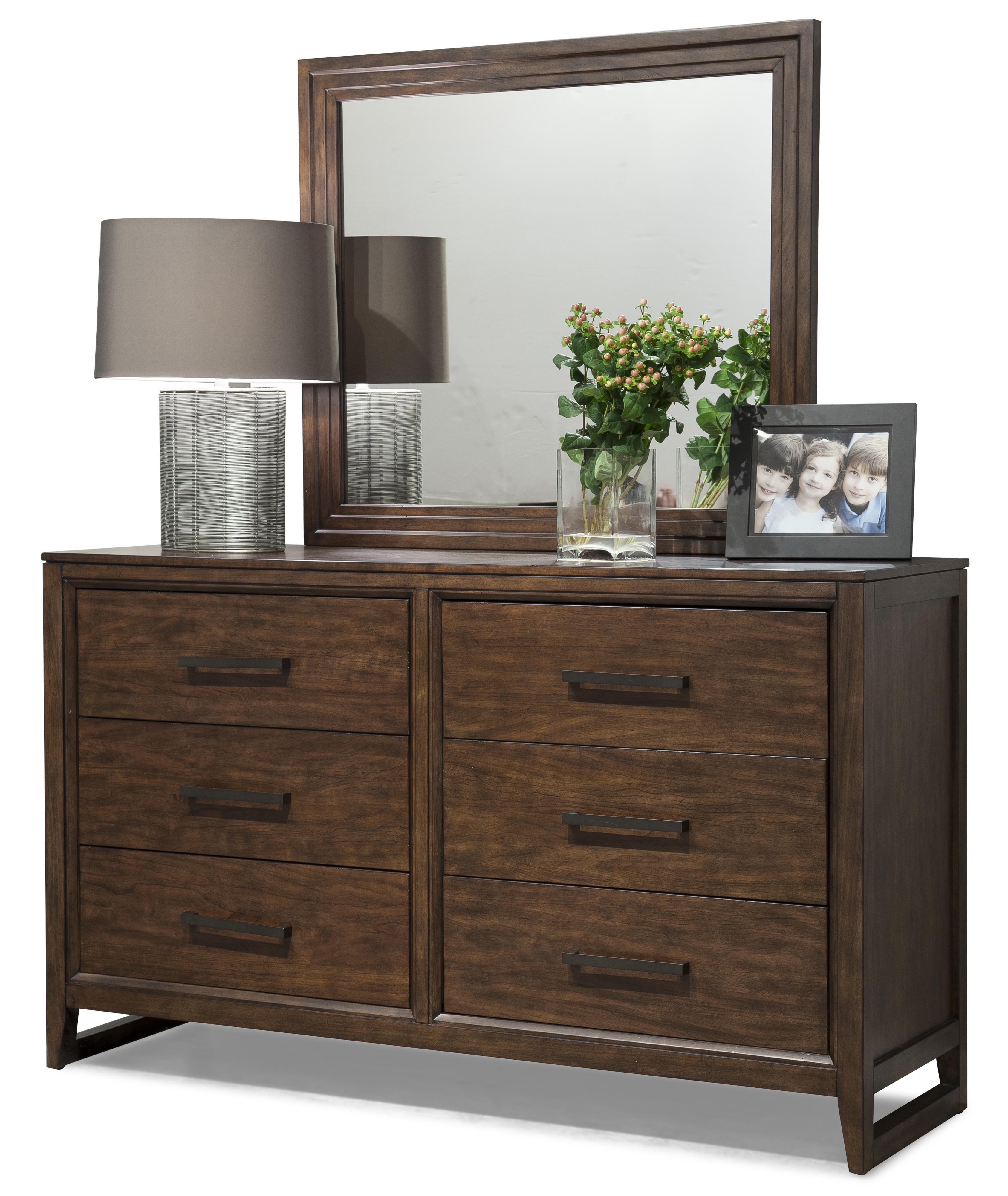 Cresent Fine Furniture Mercer Dresser & Mirror Set - Item Number: 5301+02