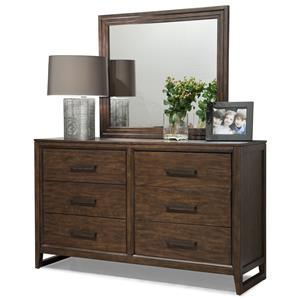 Cresent Fine Furniture Mercer Dresser & Mirror Set