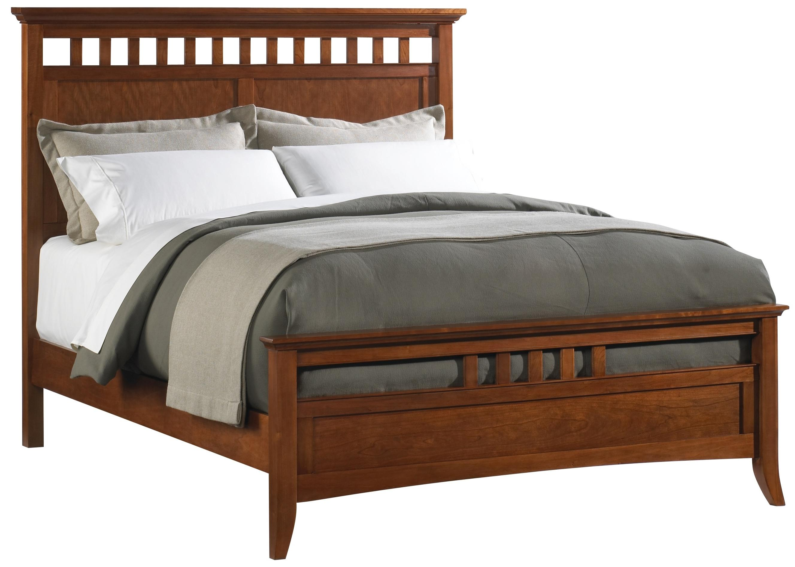 Cresent Fine Furniture Cresent Classics - Modern Shaker King Panel Bed - Item Number: 1331KB+KR