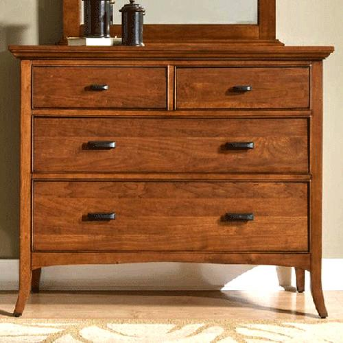 Cresent Fine Furniture Cresent Classics - Modern Shaker Small Media Dresser - Item Number: 1303