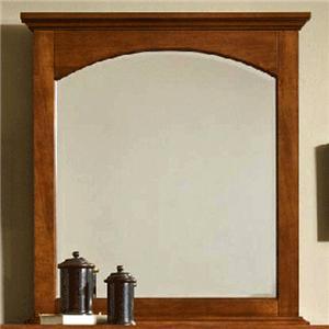 Cresent Fine Furniture Cresent Classics - Modern Shaker Small Mirror