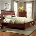 Cresent Fine Furniture Cresent Classics - Modern Shaker King Slat Panel Storage Bed with 2 Drawers