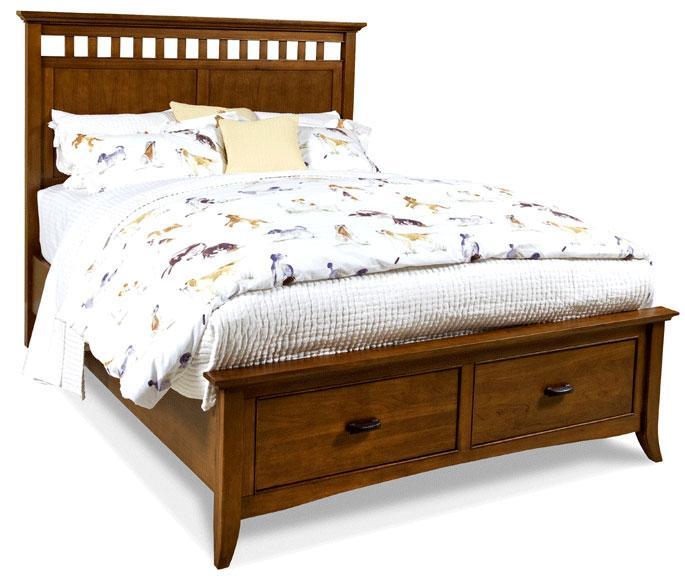 Cresent Fine Furniture Cresent Classics - Modern Shaker Queen Slat Panel Storage Bed - Item Number: 1331QH+FS+RS