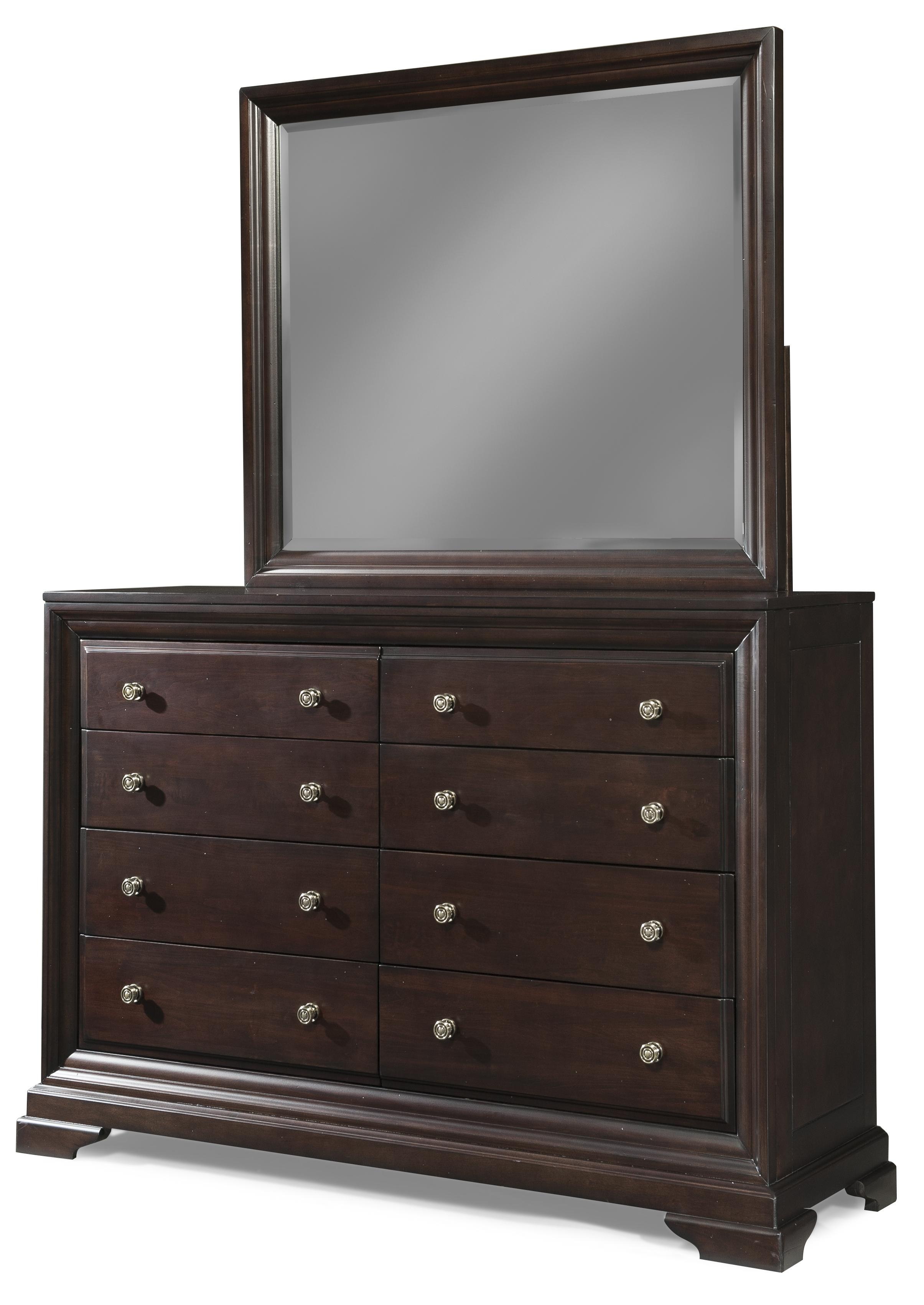 Cresent Fine Furniture Newport Dresser & Mirror Set - Item Number: 1801+1802